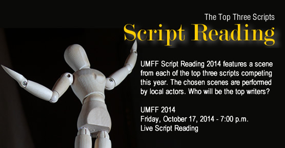 Live Script Reading - Local Actors - Atlanta, Norcross, Georgia, Gwinnett County, Friday, October 17, 2014