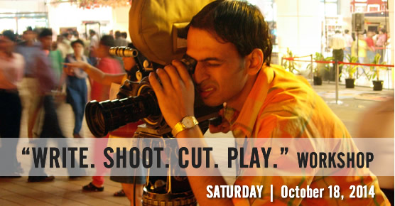 Write. Shoot. Cut. Play. - A Workshop for Filmmakers and Writers - Saturday, October 18, 2014 - Atlanta, Norcross, Georgia